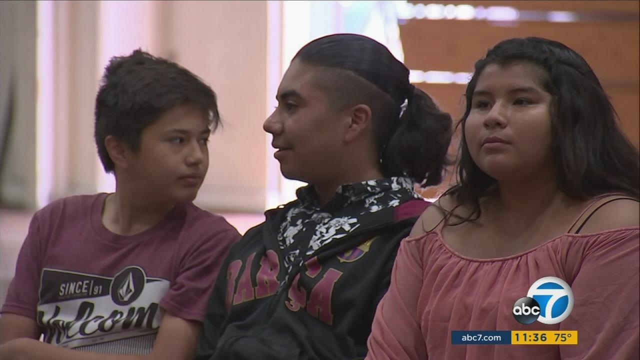 A special honor usually given only to firefighters was presented to three Santiago High School students who saved the life of a classmate with autism.