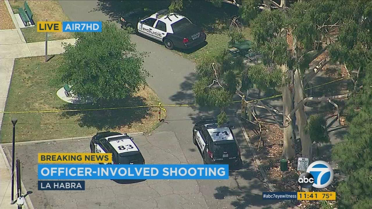 A juvenile suspect was shot and injured in an officer-involved shooting in La Habra on Monday, authorities said.
