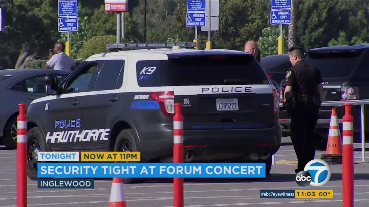 Concert venues like the Forum in Los Angeles are on high alert after a deadly terror attack at an Ariana Grande concert in the U.K.