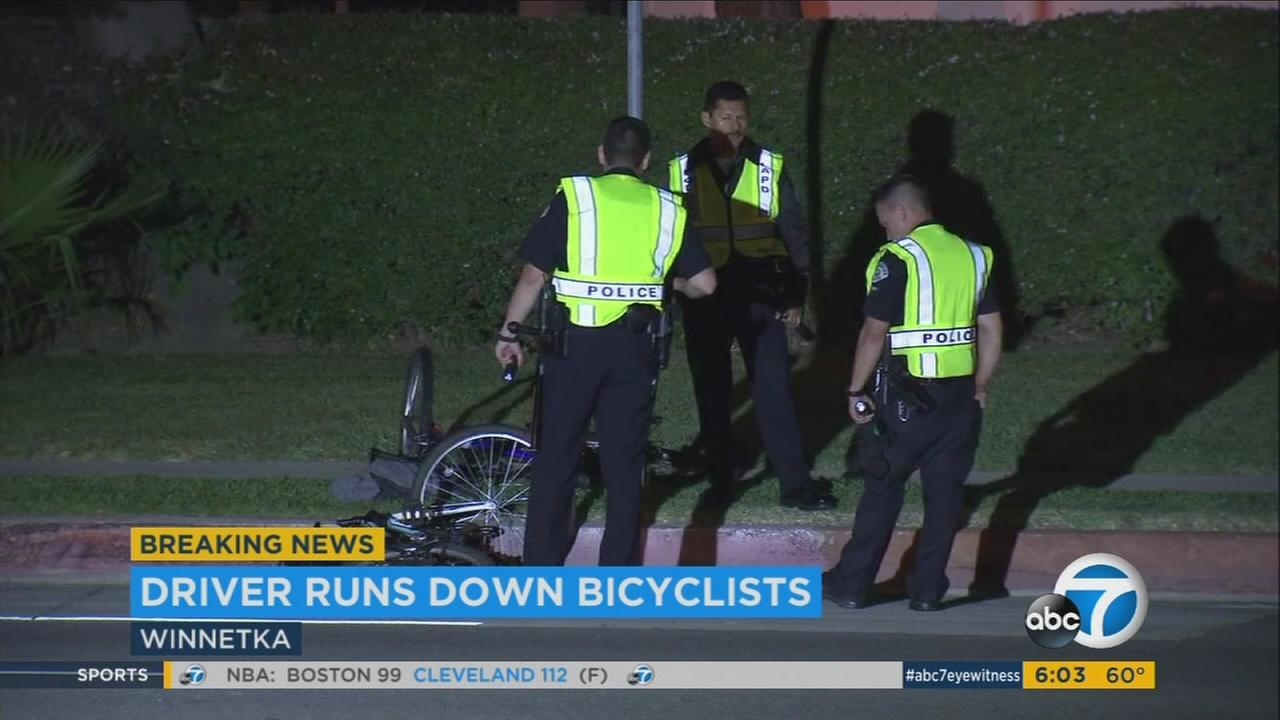 1 bicyclist killed, another injured in apparently deliberate attack by driver in Winnetka