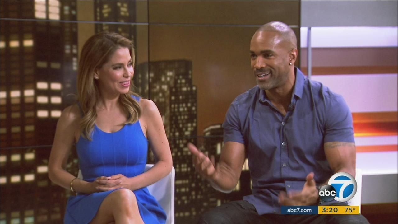 General Hospital stars Donnell Turner and Lisa Locicero are shown on the ABC7 stage on Wednesday, May 24, 2017.