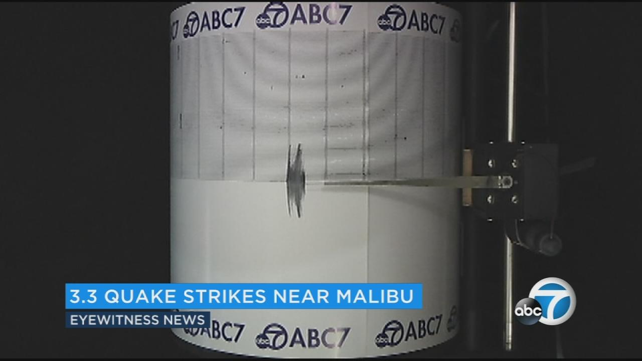 The ABC7 quake cam captured shaking from the 3.3-magnitude earthquake that struck the Malibu area on Thursday, May 25, 2017.