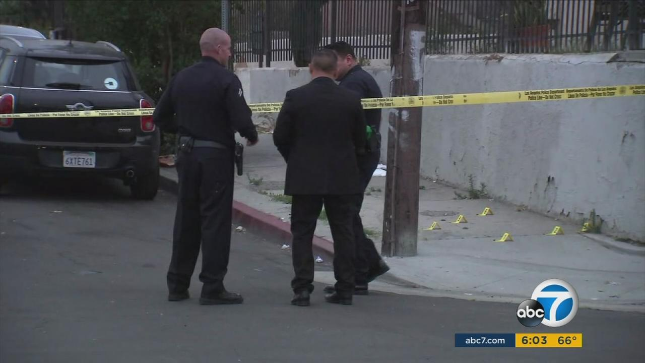 A 15-year-old boy was shot in the head and wounded early Thursday morning in Boyle Heights, authorities said.
