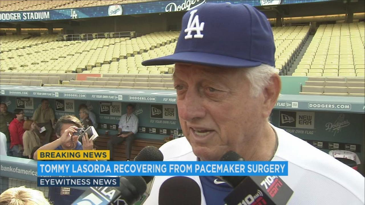 Tommy Lasorda is seen in this undated file photo.