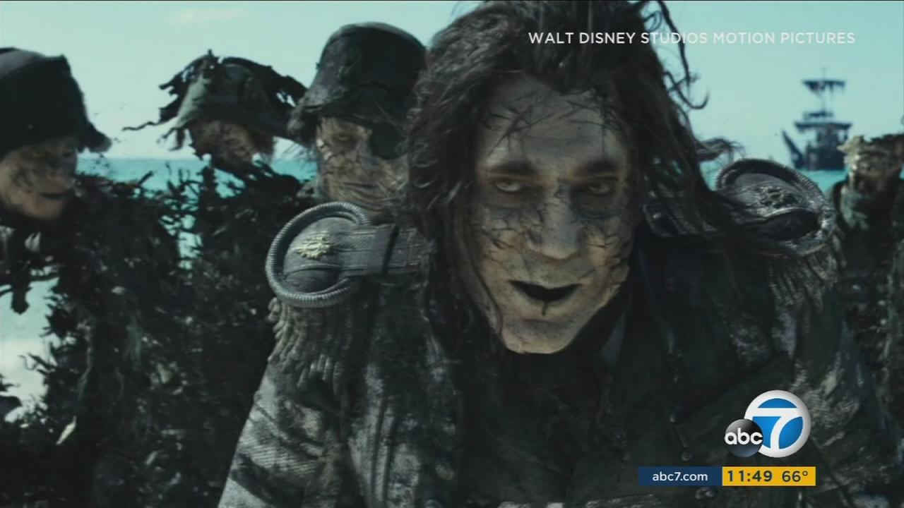 A scene from the 2017 film Pirates of the Caribbean: Dead Men Tell No Tales.