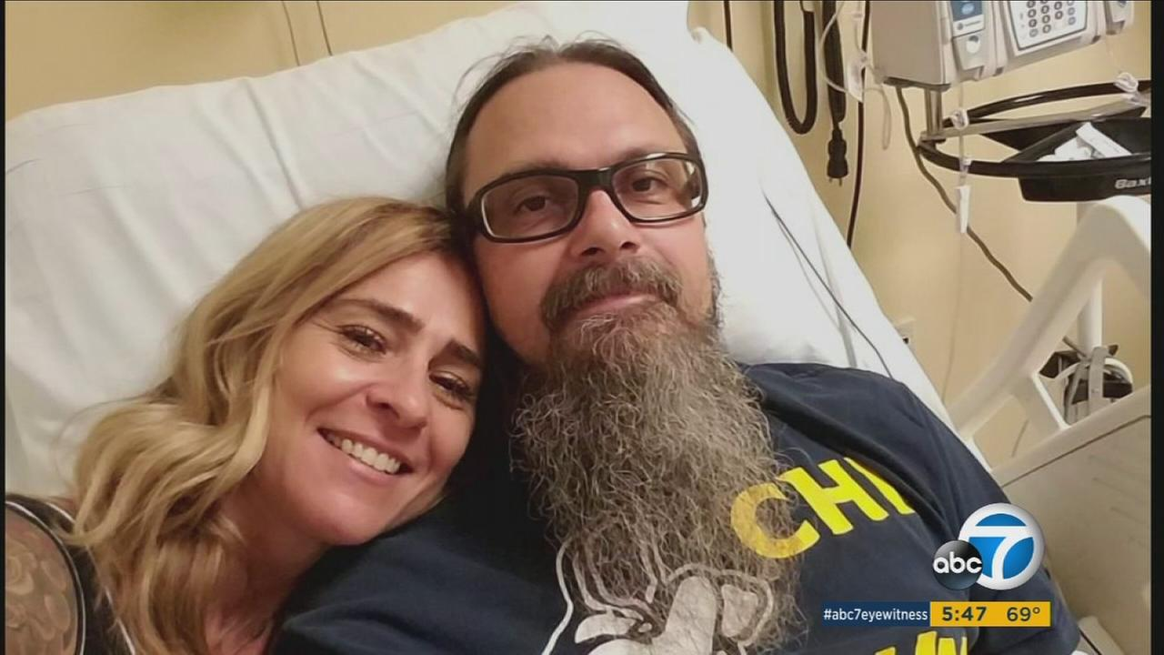 Roxann and Paul Inacio are shown in an undated photo from the hospital.