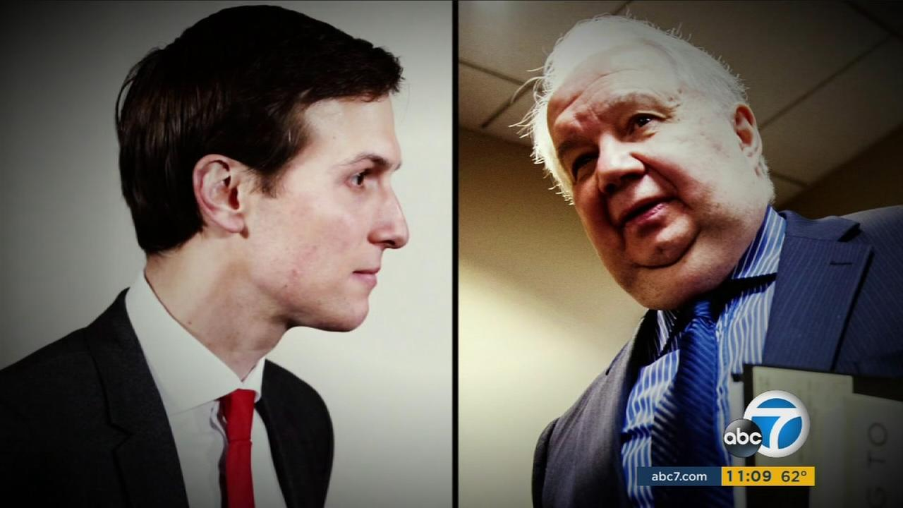Undated photos of Jared Kushner and Russian Ambassador Sergey Kislyak.