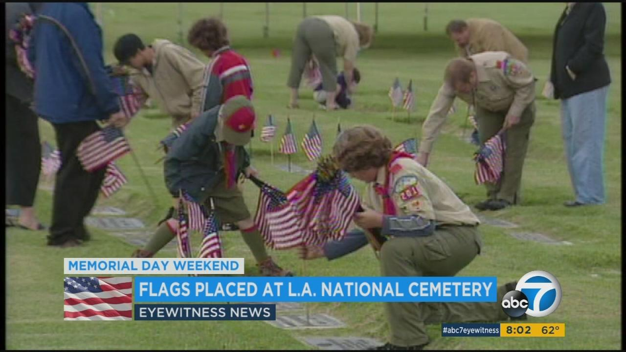 Memorial Day weekend tributes were underway across Southern California on Sunday, honoring servicemen and servicewomen who lost their lives fighting for Americans freedom.