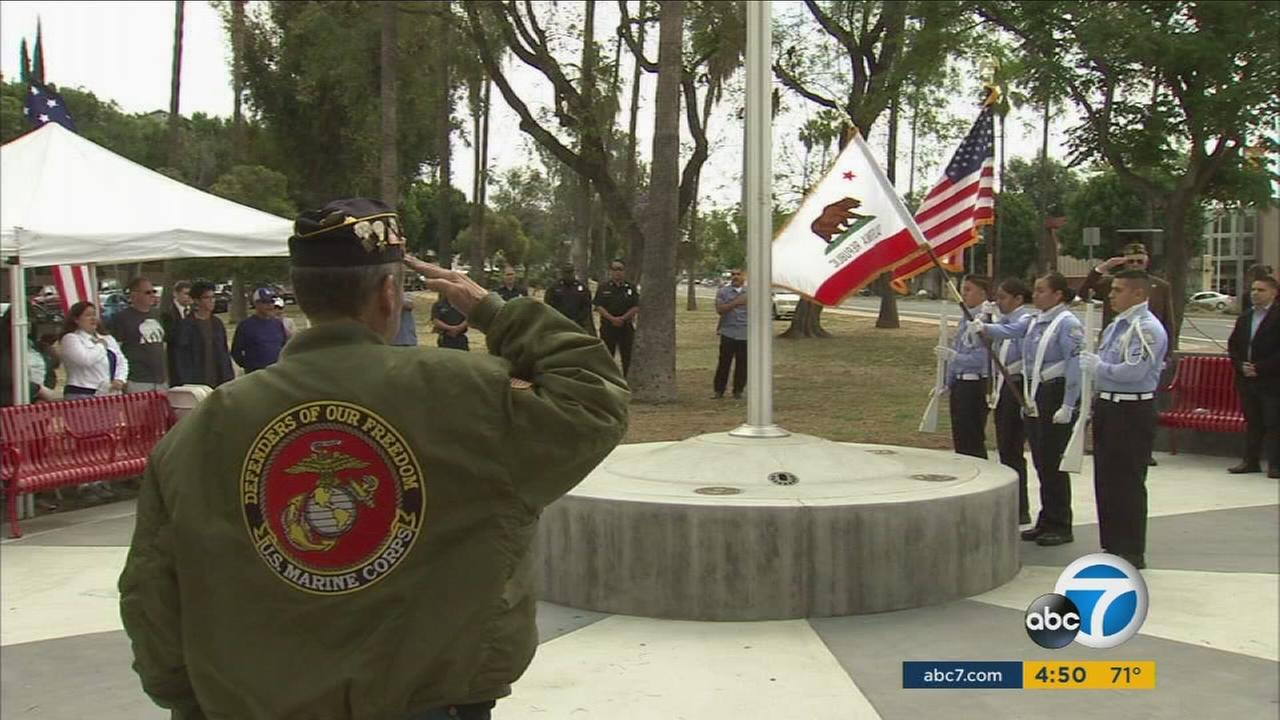 A 24-hour Memorial Day vigil is being held in Boyle Heights to honor the memories of the men and women who made the ultimate sacrifice for their country.
