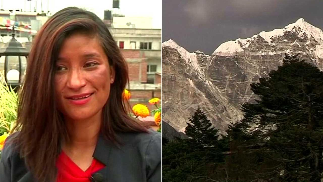 Anshu Jamsenpa speaks about climbing Mount Everest twice in five days.