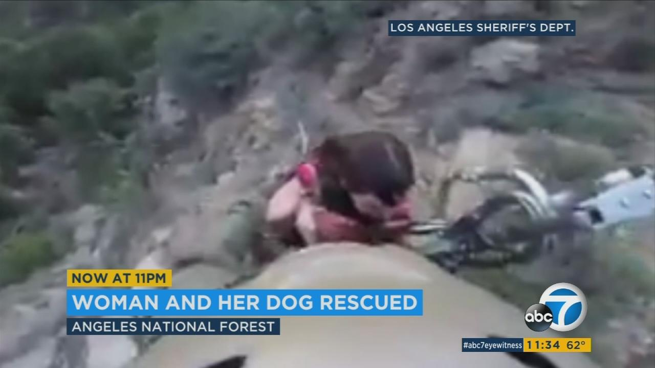 The rescue happened on the side of Bear Canyon Cliff in the forest. There is no word on why the pair needed to be rescued, or their condition.