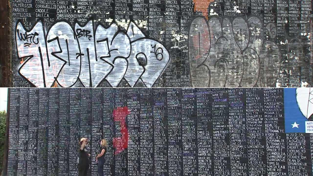 A Vietnam War memorial in Venice was restored after being vandalized in 2016.