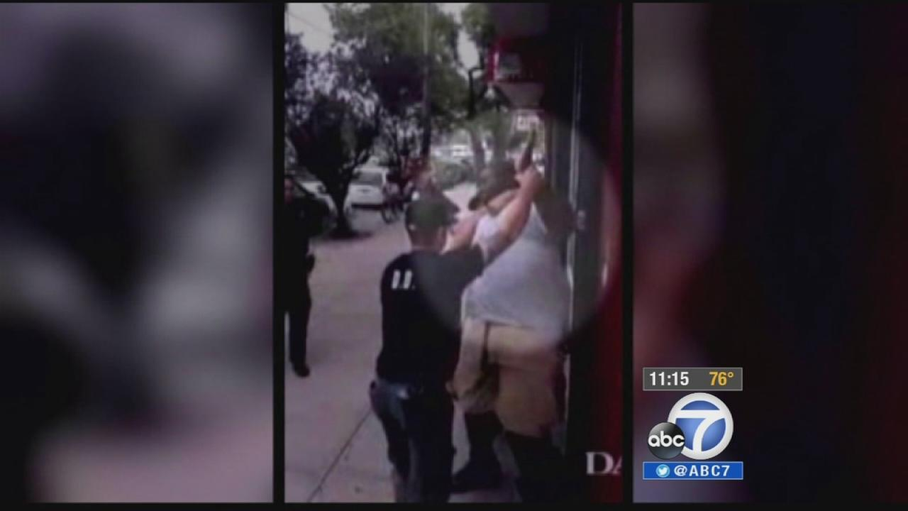 A still from video taken by a bystander shows the arrest of Eric Garner in Staten Island on Thursday, July 17, 2014.