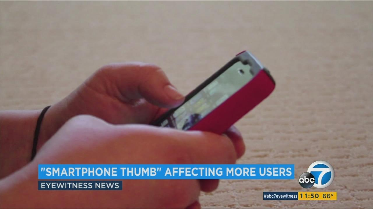 Doctors are seeing more people with hand injuries and pain caused by repetitive use of smartphones.