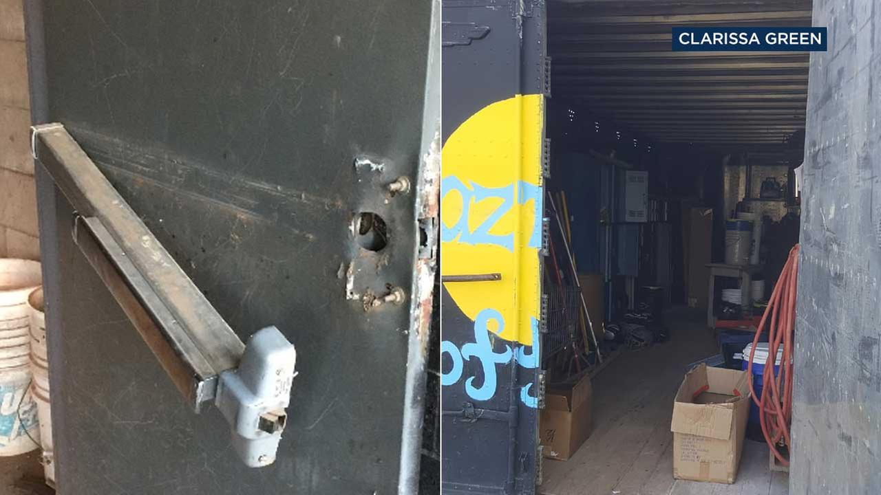 Thieves raided the softball and baseball storage unit at Azusa High School, cleaning out everything from equipment to uniforms.