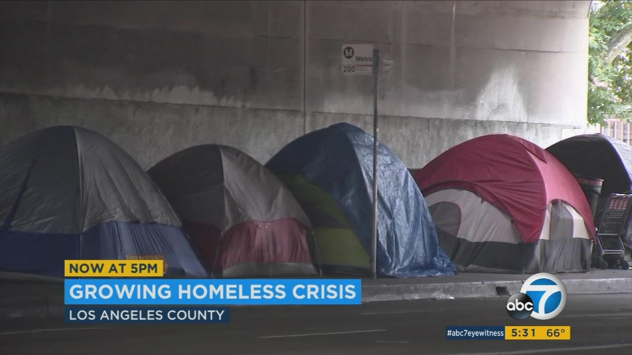Los Angeles County is seeing a steep increase in homelessness this year.