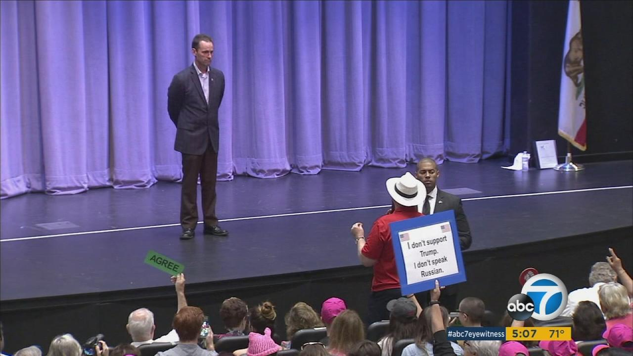 Santa Clarita residents demand answers at Rep. Steve Knight's town hall meeting