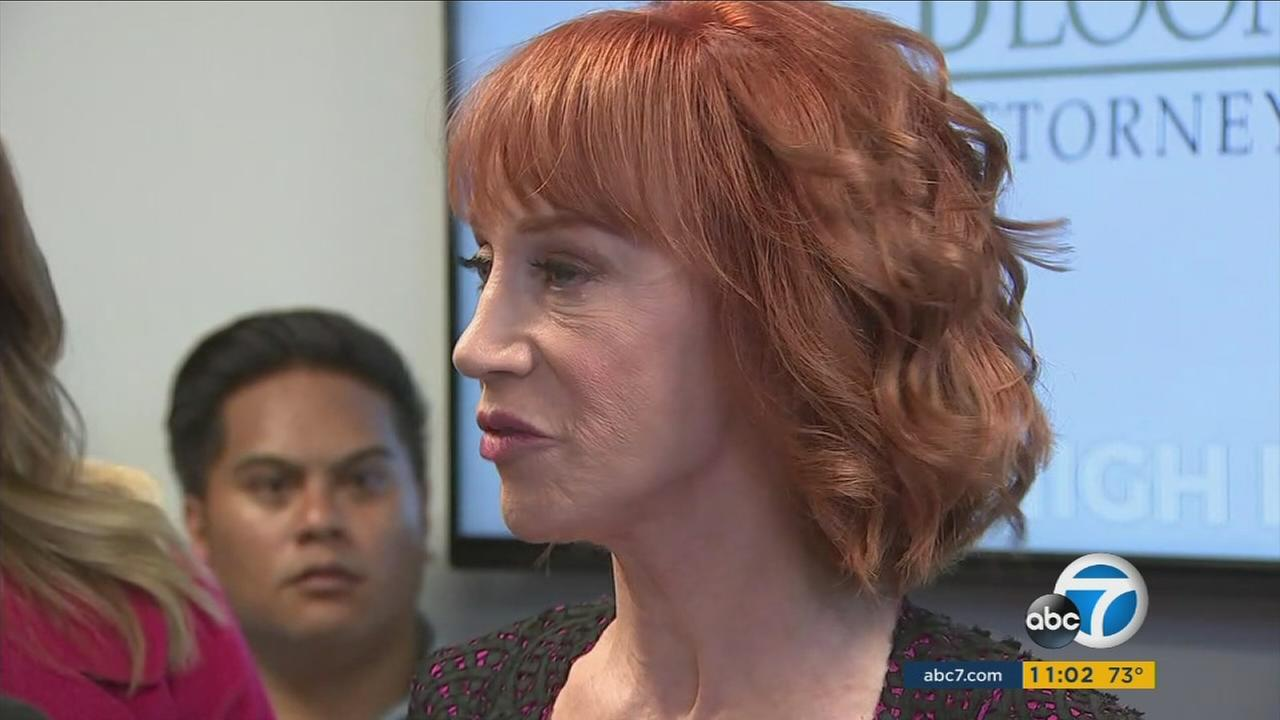 Kathy Griffin and her attorney held a news conference Friday to discuss the fallout from the comedian posing with a likeness of President Donald Trumps severed head.