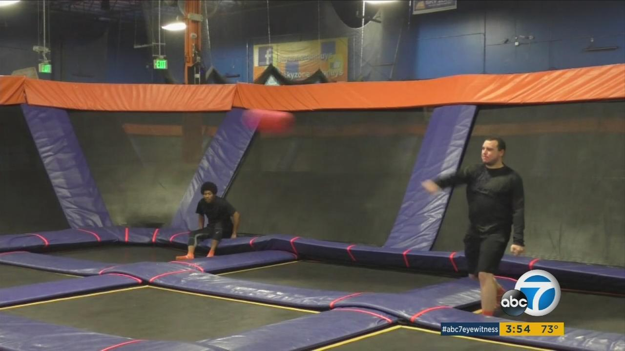 Loads of people like the old fashioned game of dodgeball. But now there are tournaments held in trampoline parks across the U.S. This Sunday the quarter finals are held at SkyZone in Van Nuys.