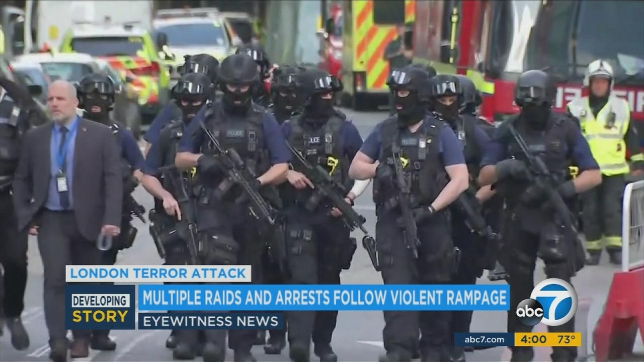 London law enforcement was out in force after Saturdays terror attacks that claimed 7 lives.