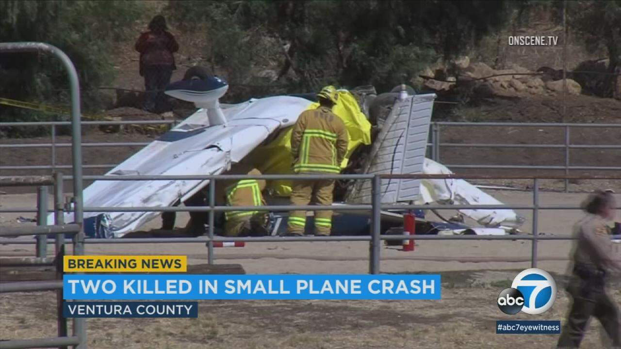 Father, son from Calabasas killed in Ventura County small-plane crash