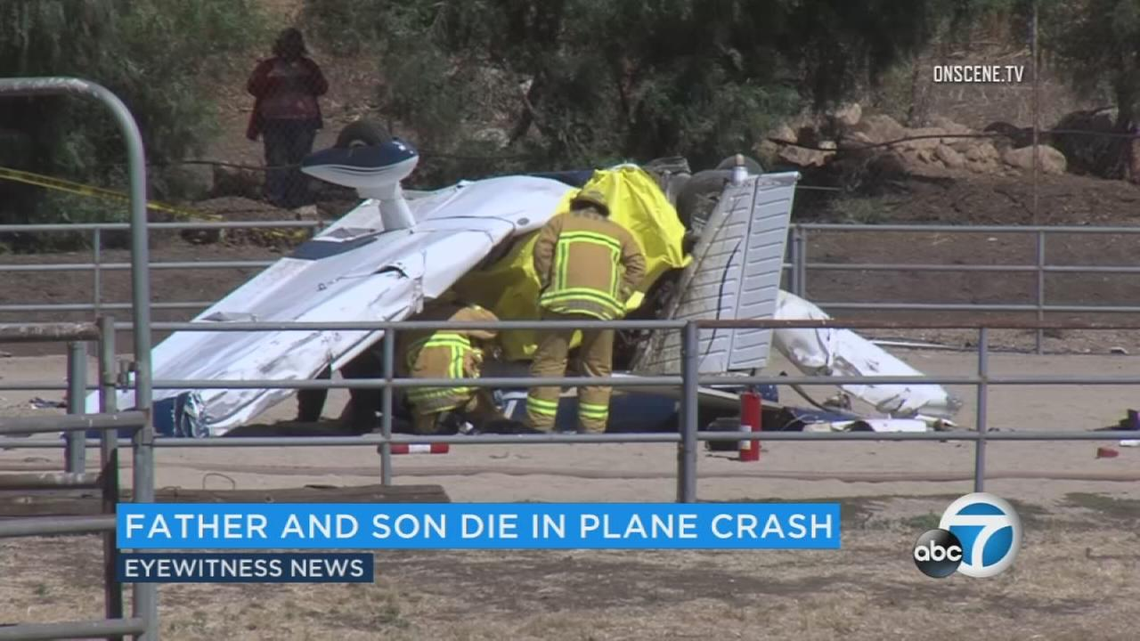 Father, son killed in Ventura County plane crash identified