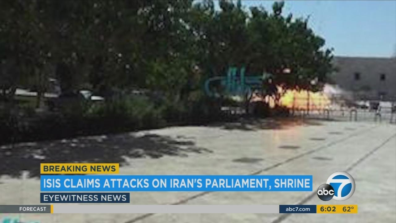Gunmen and suicide bombers attacked Irans parliament and the shrine of its revolutionary leader on Wednesday, June 7, 2017.