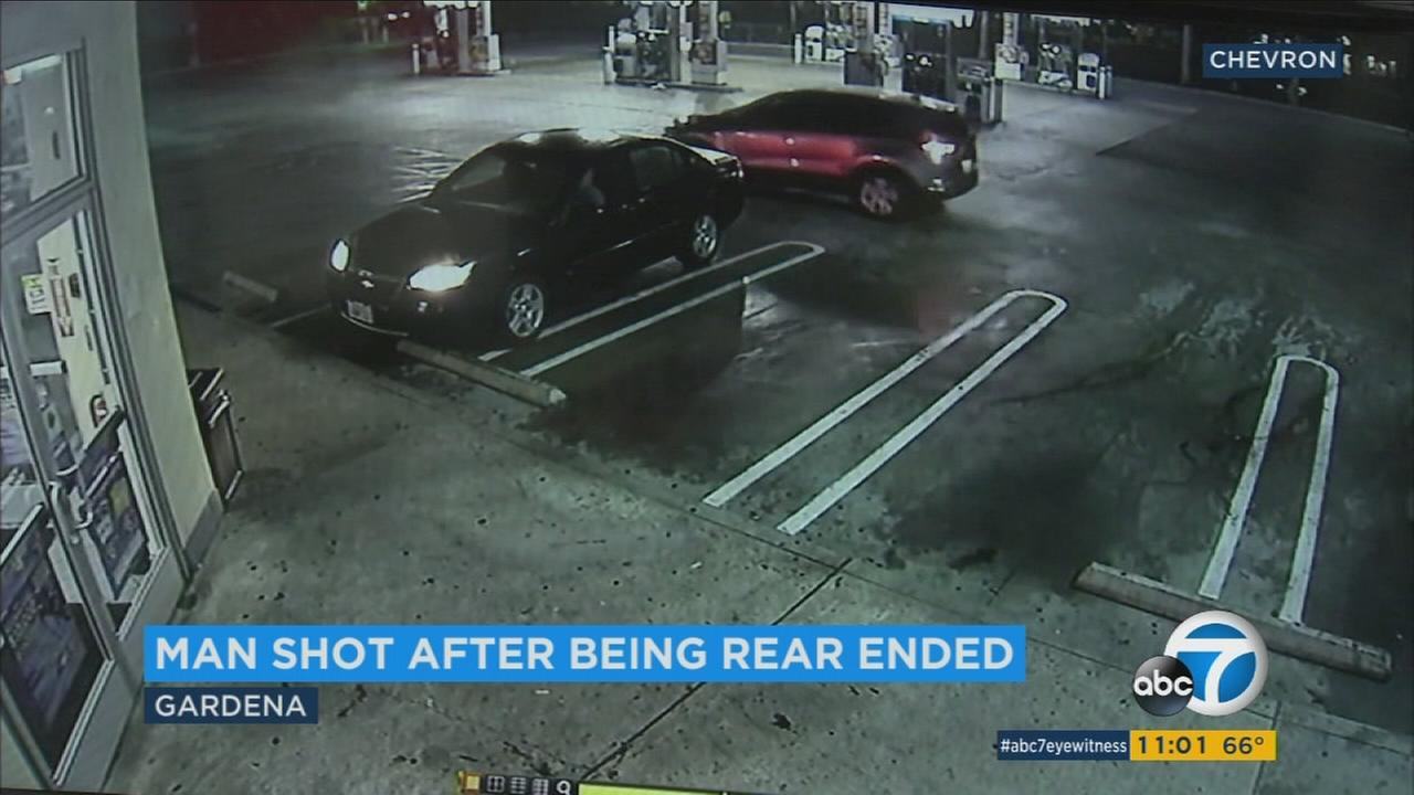 Man shot at Gardena gas station during robbery attempt after he won at nearby casino