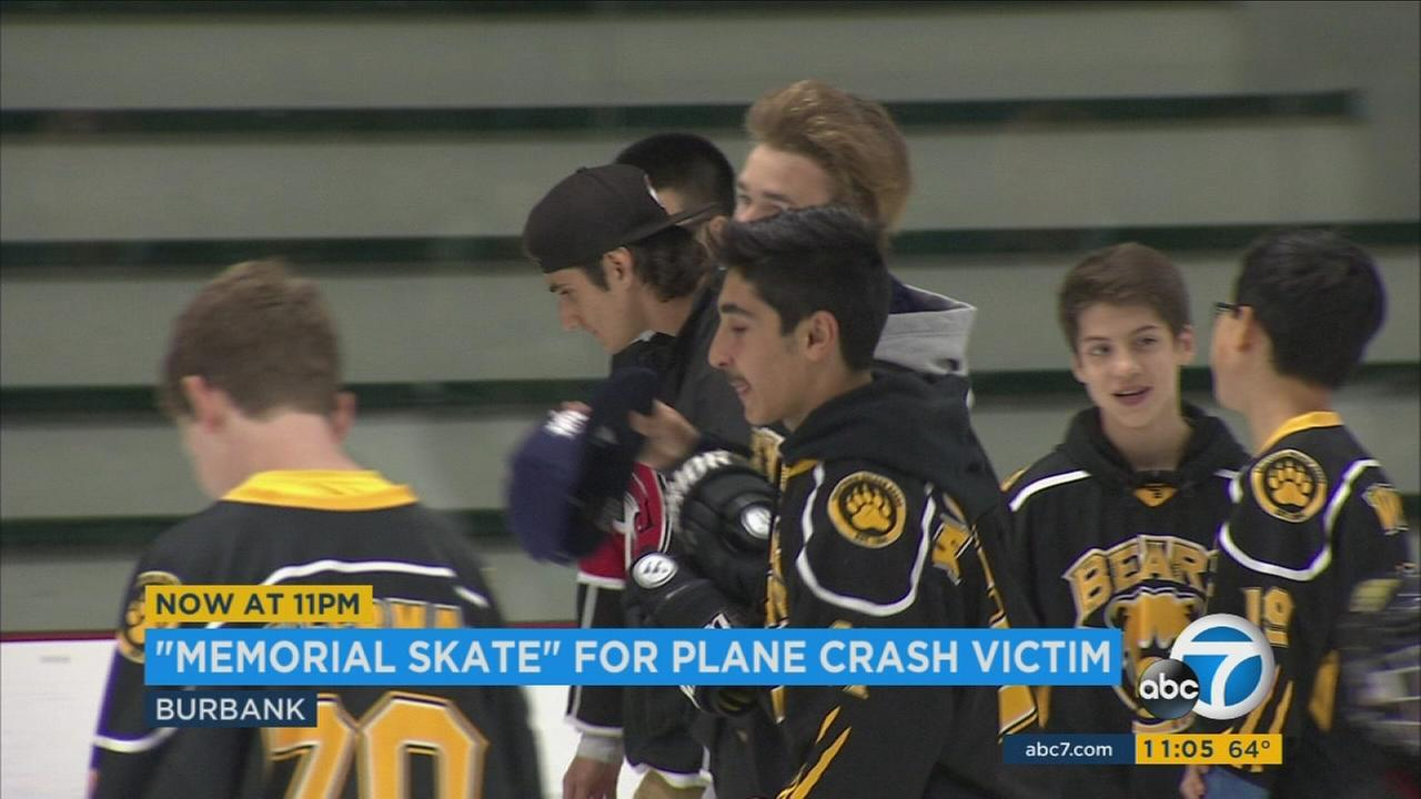Friends of Dylan Harlan held a tribute skate in Burbank to honor the memory of the teen killed in a plane crash.