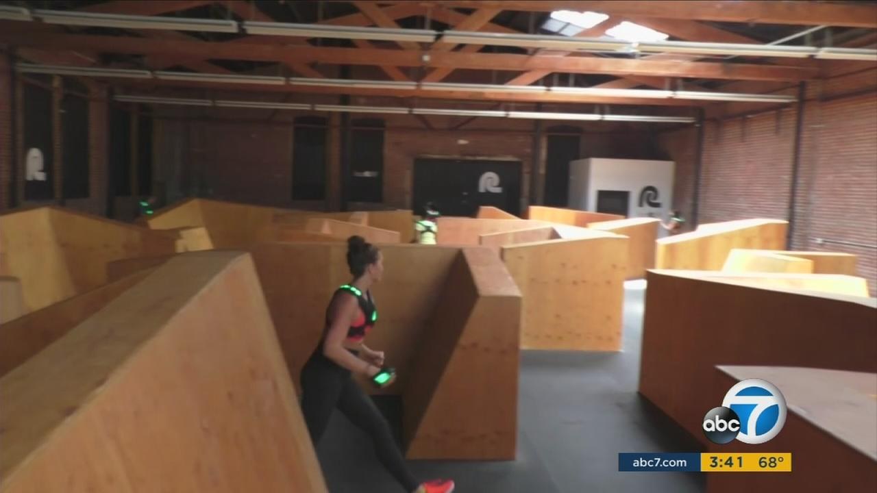 LazRfit in downtown Los Angeles provides an 8-10 minute workout course that gets people burning calories in a fun, parkour type setting.