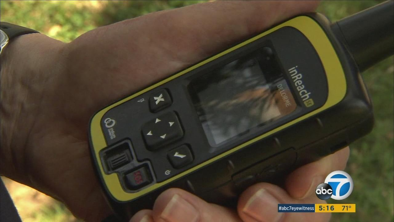A local hiker helped save an injured man thanks in part to a location device he always carries.