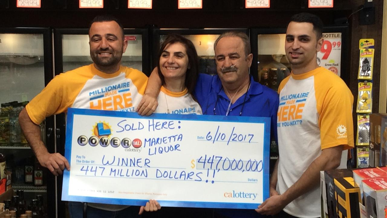 Owners of a store in Menifee are ecstatic over a Powerball win at their location on Saturday, June 10, 2017.
