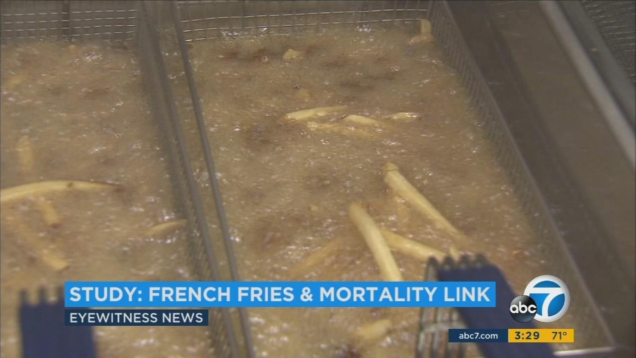 Researchers say eating fried potatoes at least twice a week nearly doubles a persons risk of death.