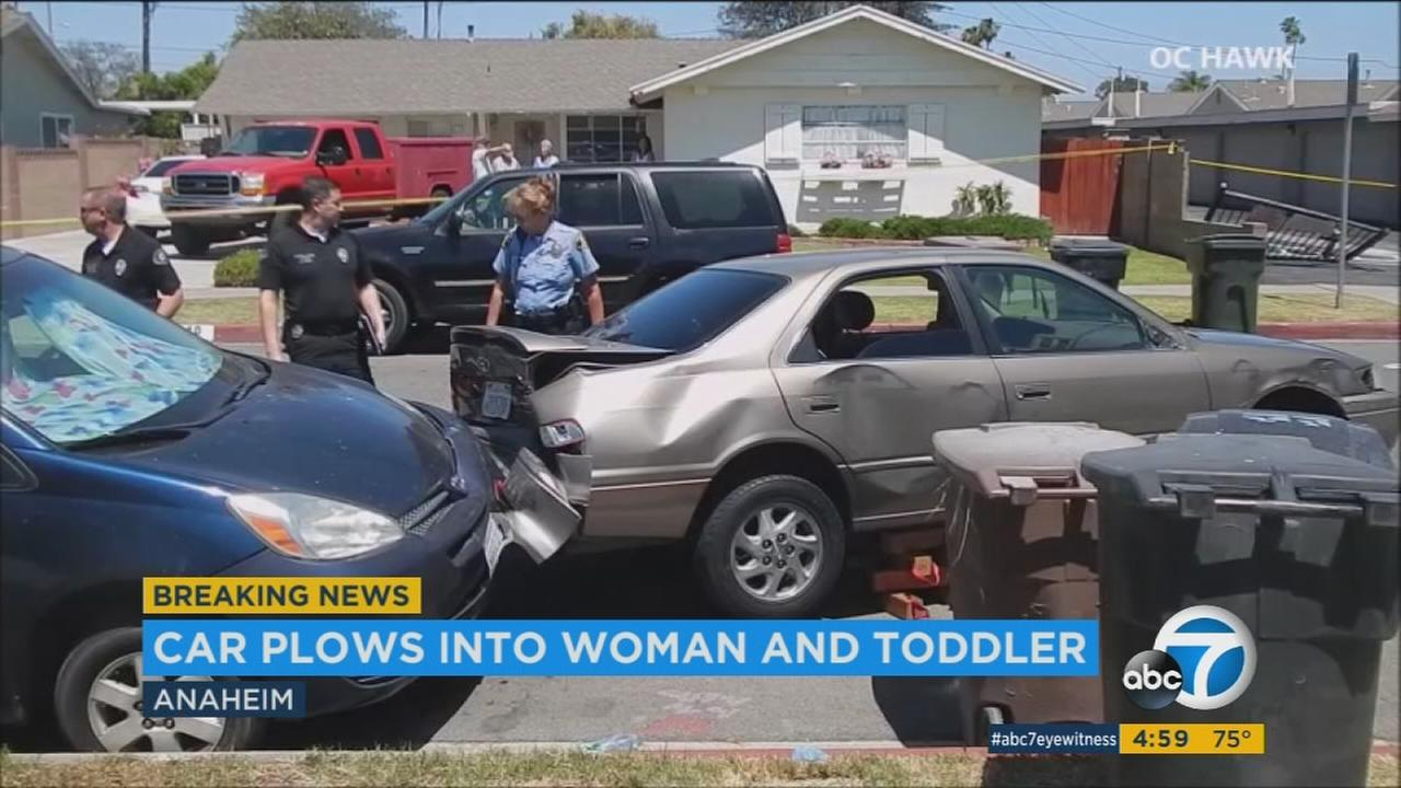 Grandmother dies, child hurt after car crashes into Anaheim apartment gate