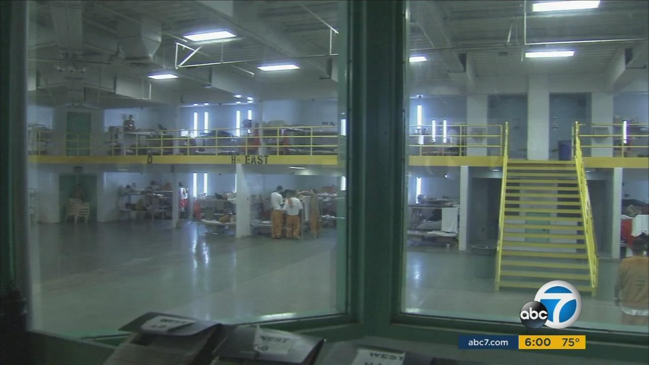 Inmates are shown inside a prison in a file photo.