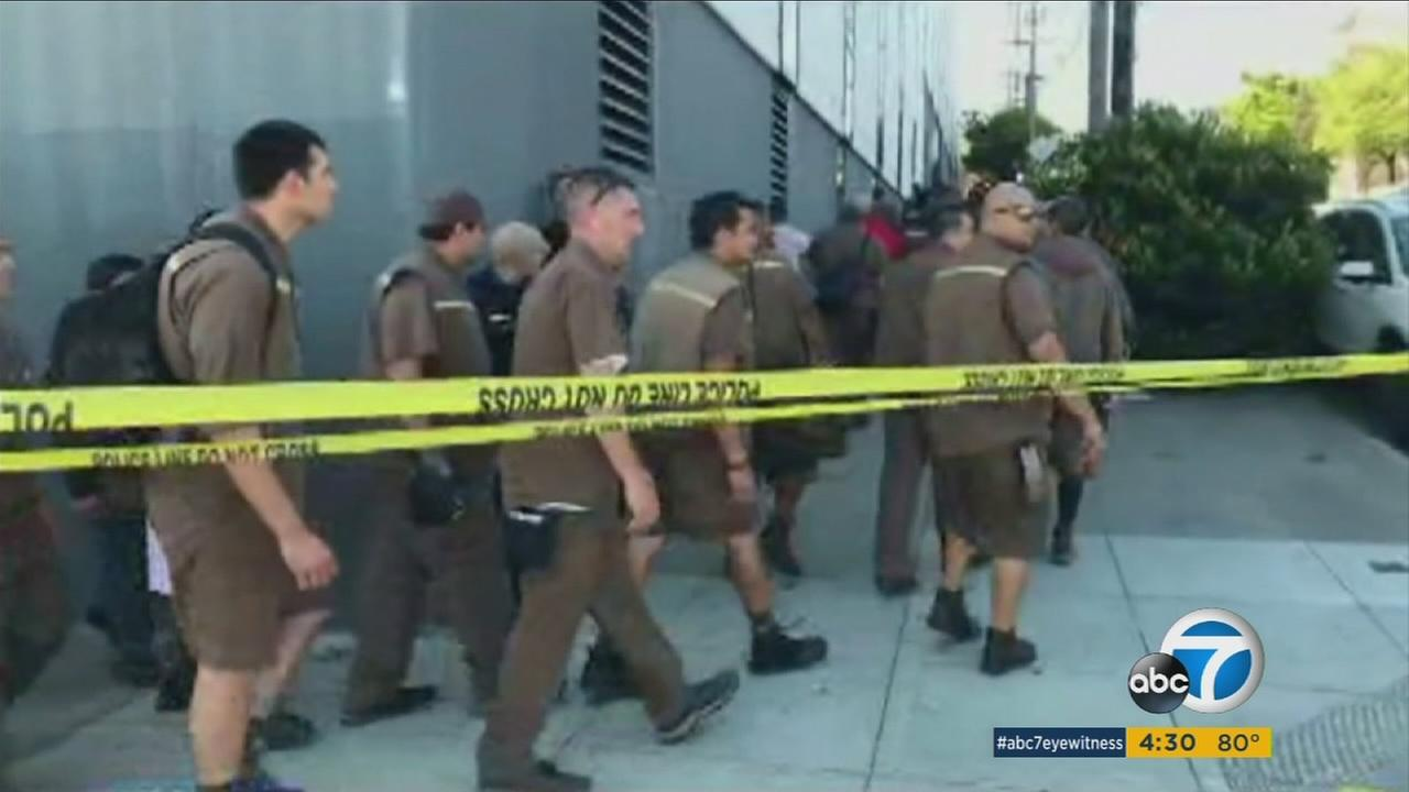 San Francisco police confirm that four people were killed, including the gunman, in a shooting at a UPS facility on Wednesday. Two others were injured.