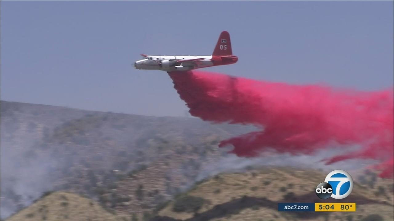 Brush fire scorches 50 acres in Banning, fire crews working on containment