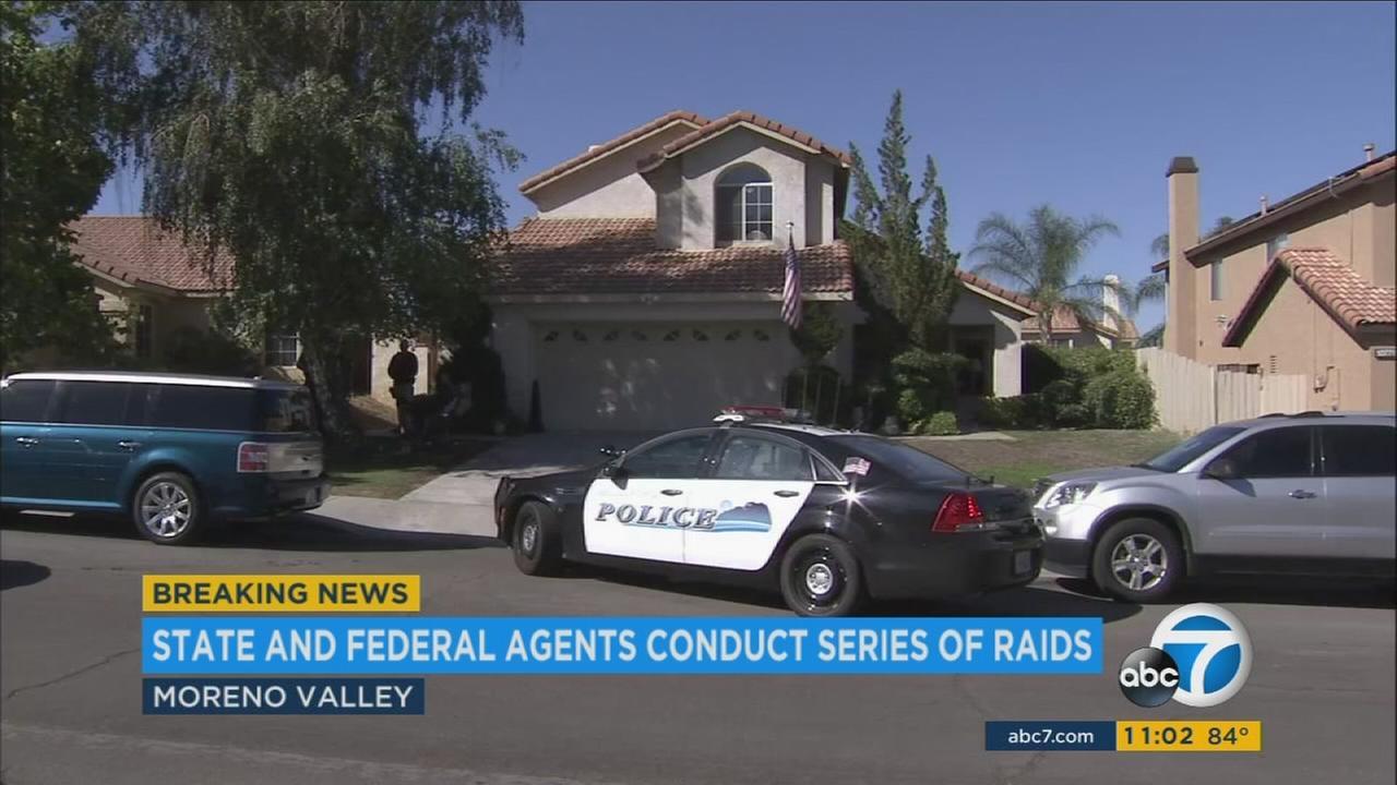 Federal officials conduct raids, serve arrest warrants across SoCal