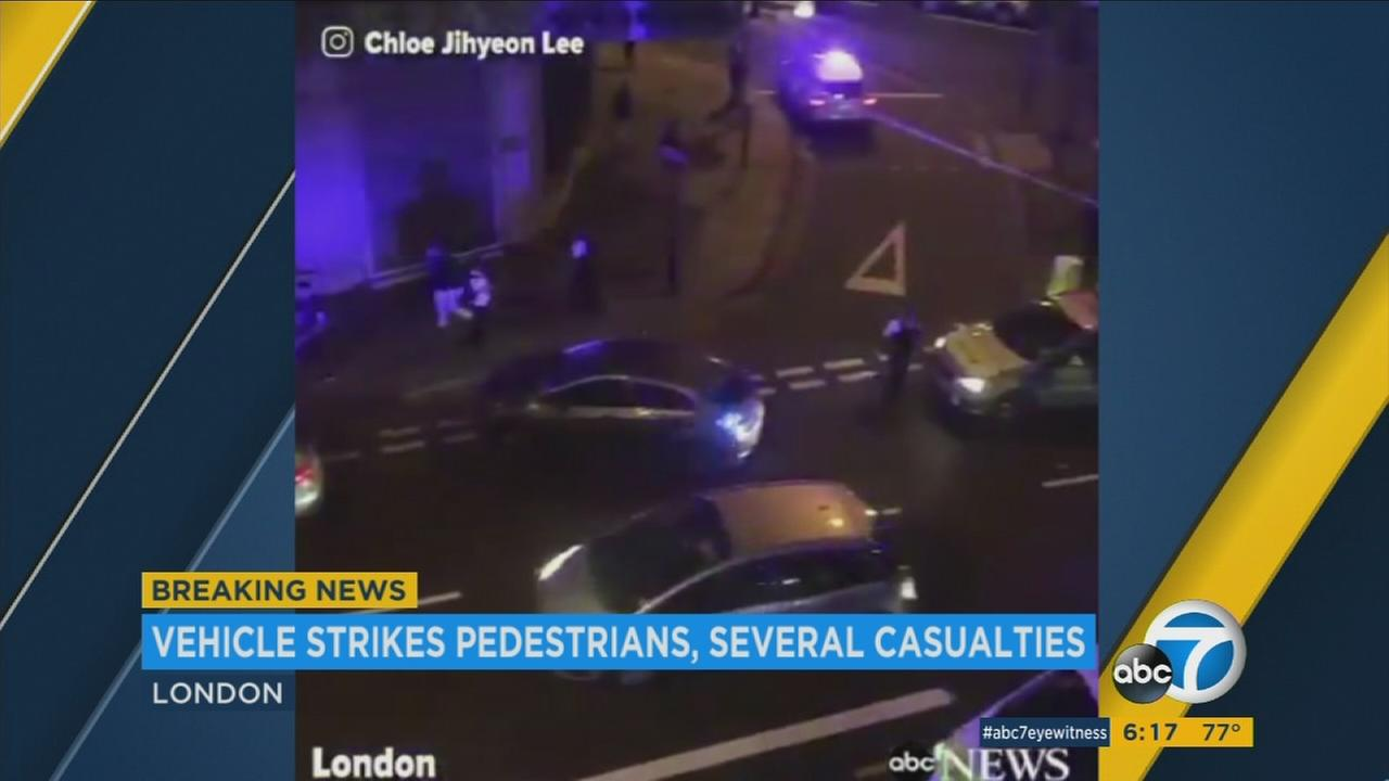 Casualties reported after vehicle strikes people near London mosque