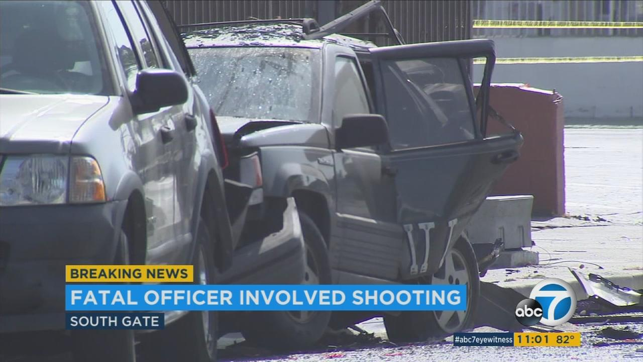 Carjack suspect shot dead by police after chase in South Gate