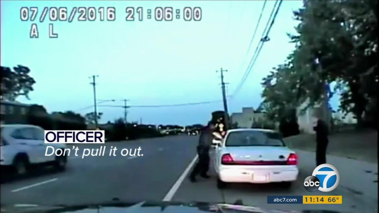 Dashcam video released Tuesday showed events unfold in the death of Philando Castile before he was shot by a Minnesota police officer.