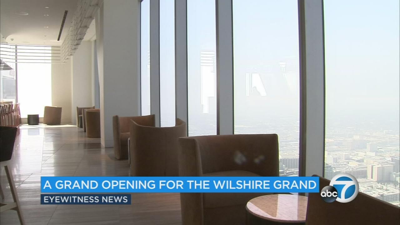 The Wilshire Grand in downtown L.A. is opening its doors on Friday, and Eyewitness News got a sneak peek inside before the ribbon cutting.