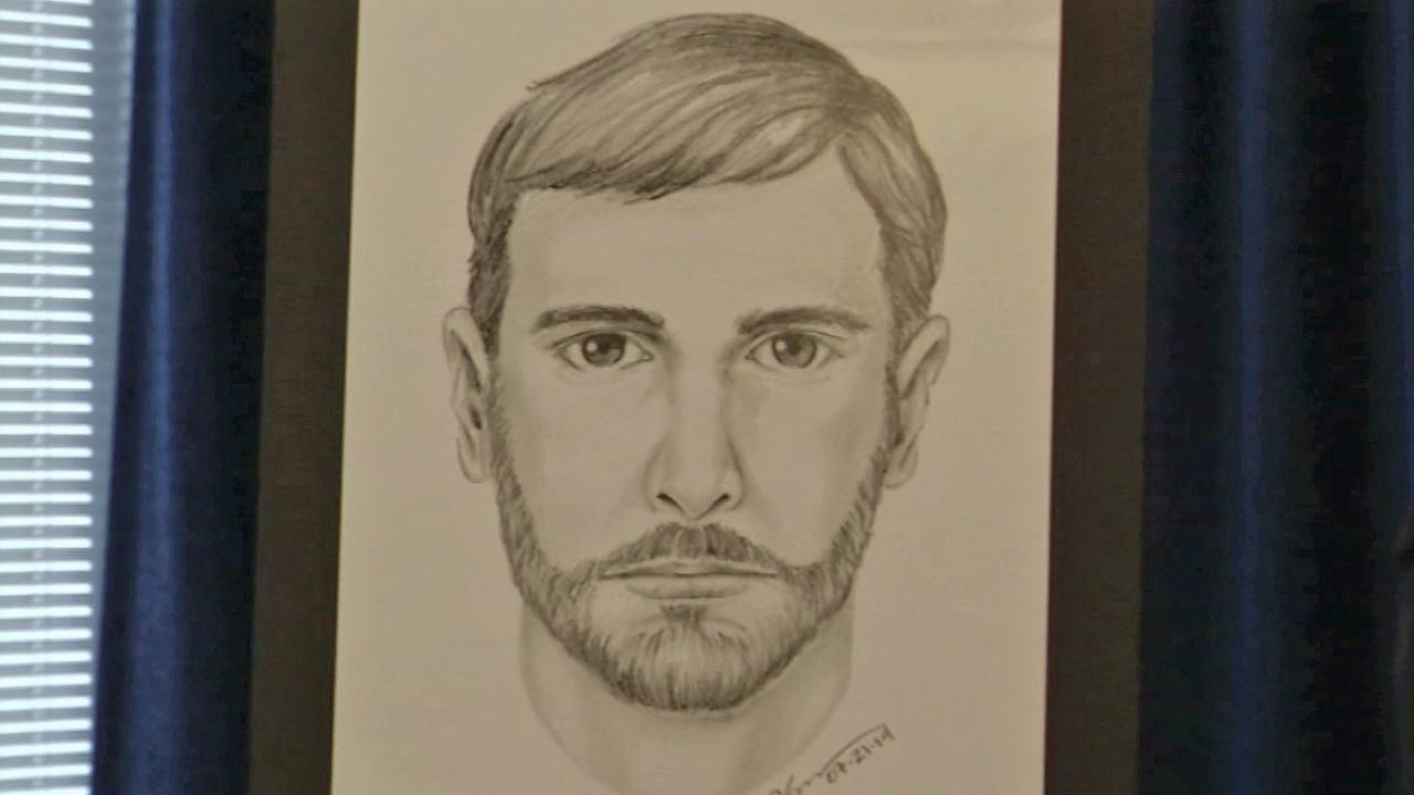A sketch of a hate crime suspect in Long Beach is seen Wednesday, July 23, 2014.