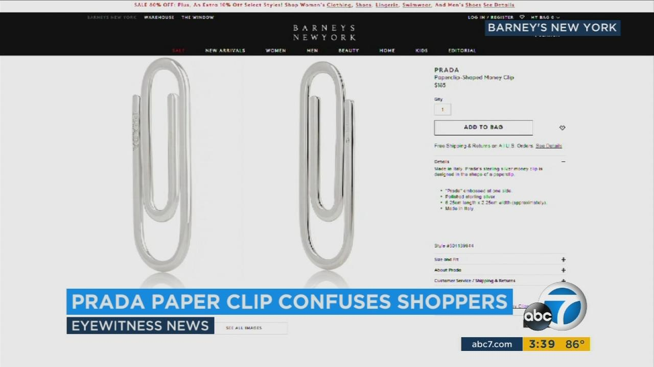 How much would you pay for a designer paper clip? Prada thinks $185 is the perfect price.