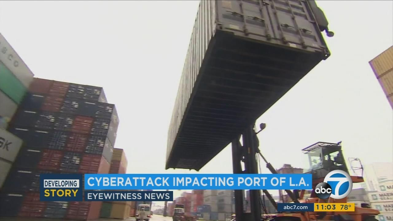 The Port of Los Angeles largest cargo terminal had its operations snarled for a second day on Wednesday after it was targeted in a global cyber attack that left many companies scrambling.