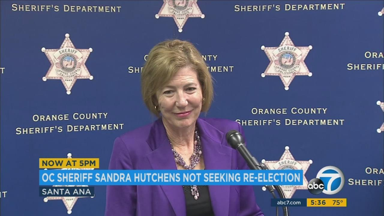 Orange County Sheriff Sandra Hutchens said her decision not to seek re-election next year had nothing to do with a scathing report on the county jail system or other problems plaguing her department.