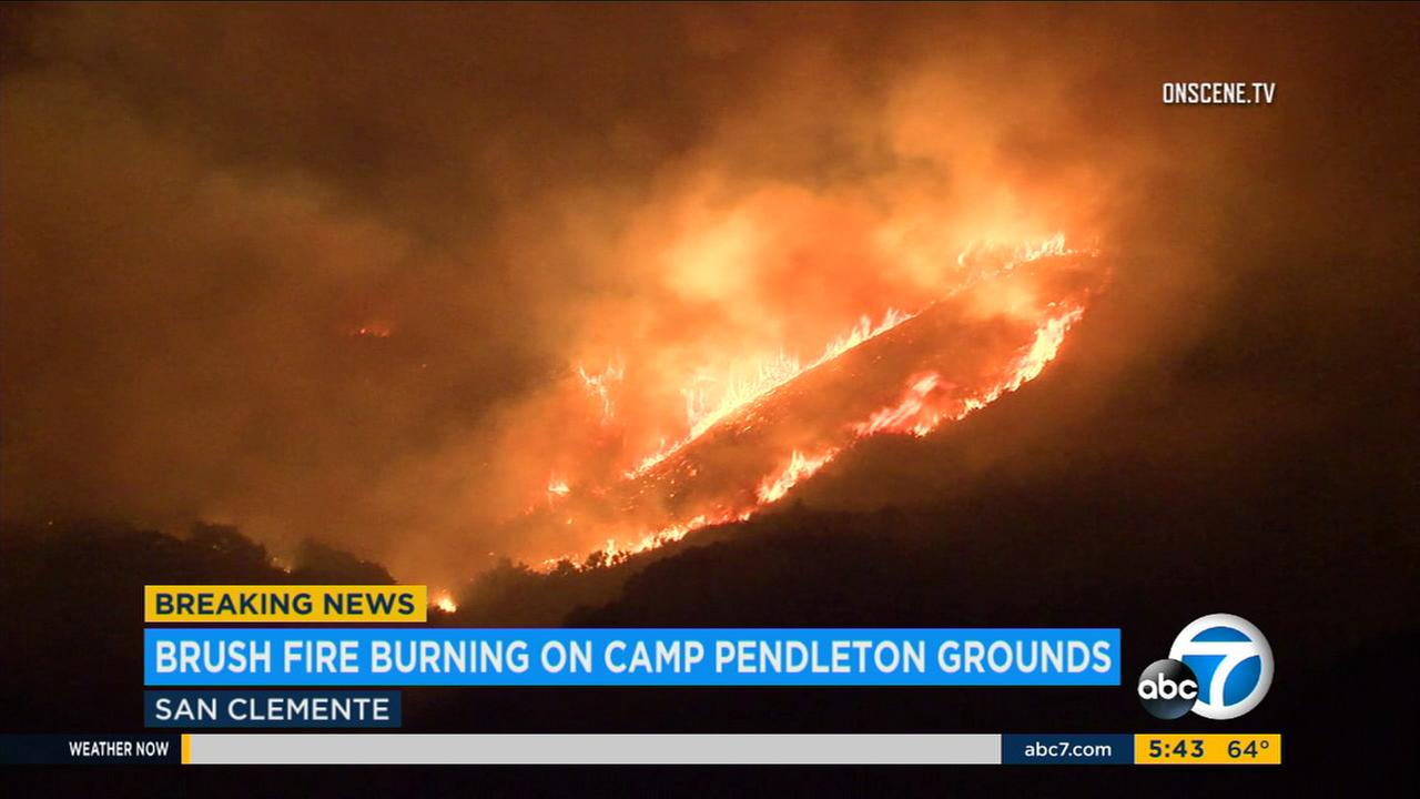 Cristianitos Fire spreads to 700 acres at Camp Pendleton; firefighters reach 10 percent containment