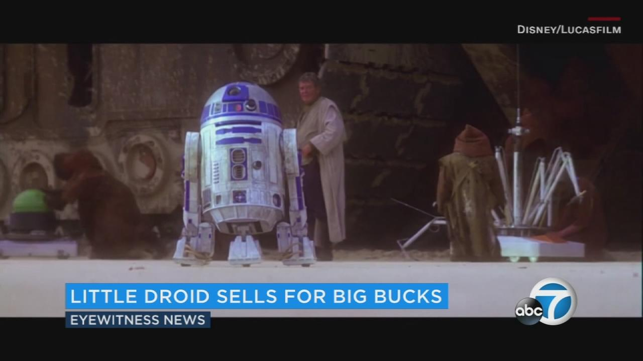R2-D2 who appeared in several Star Wars films was auctioned off for $2.76 million at an auction Wednesday.