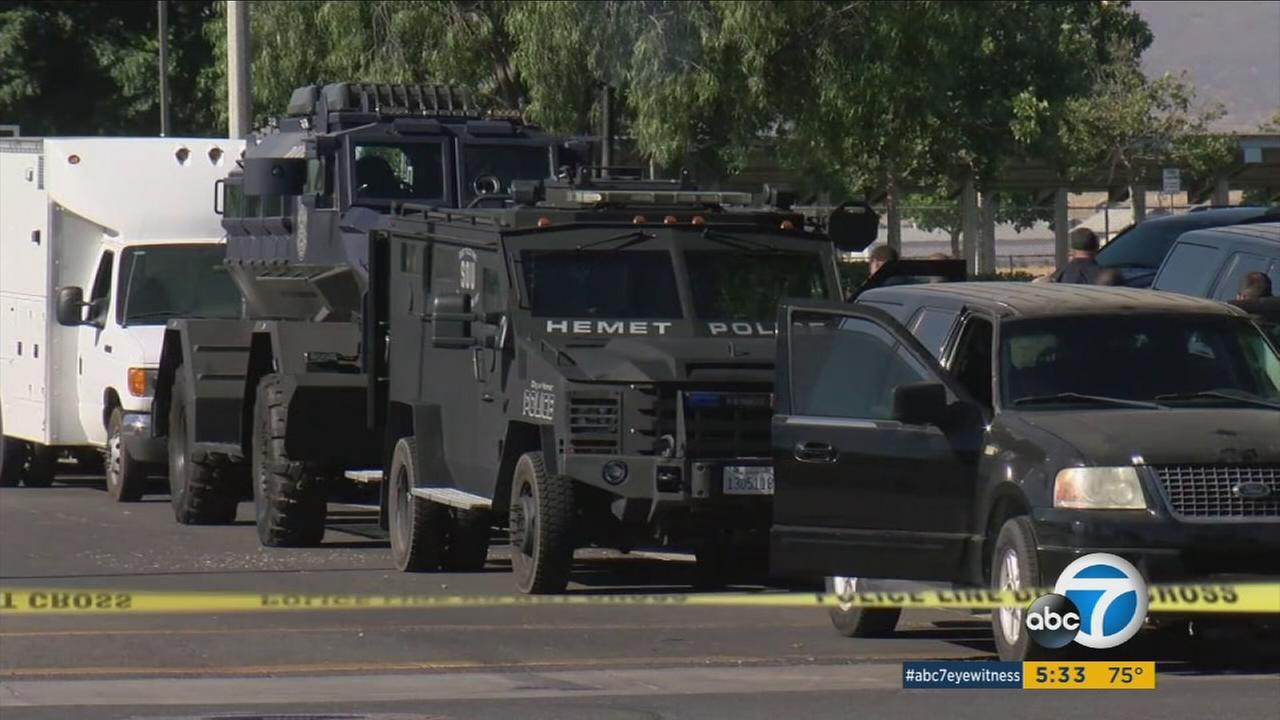 Authorities showed up in armored vehicles and raided places in Hemet as part of a sting operation on Thursday, June 29, 2017.