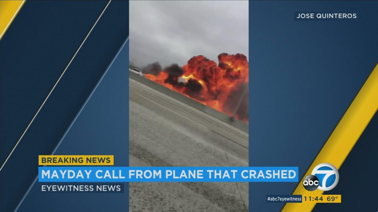 Video captures the moments when a small plane crashed onto the 405 Freeway in Orange County on Friday, June 30, 2017.